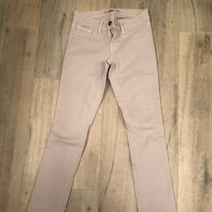 J Brand skinny twill jeans in grey